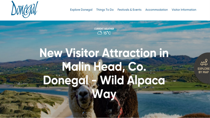 "We are Featured on the ""Go Visit Donegal"" website"